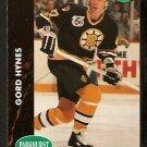 Boston Bruins Gord Hynes RC Rookie Card 1991 Parkhurst Hockey Card 335