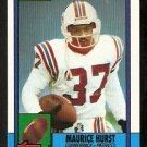 New England Patriots Maurice Hurst RC Rookie Card 1990 Topps Football Card 429