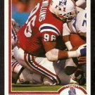 New England Patriots Brent Williams 1991 Upper Deck Football Card 268