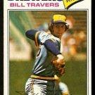 Milwaukee Brewers Bill Travers 1977 Topps Baseball Card 125 vg