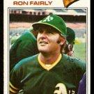 Oakland Athletics Ron Fairly 1977 Topps Baseball Card 127 good