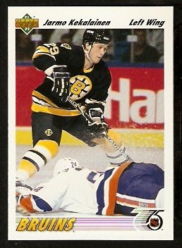 Boston Bruins Jarmo Kekalainen RC Rookie Card 1991 Upper Deck Hockey Card 108