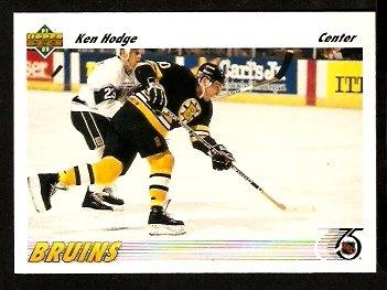 Boston Bruins Ken Hodge 1991 Upper Deck Hockey Card 251