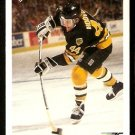 Boston Bruins Ron Hoover RC Rookie Card 1991 Upper Deck Hockey Card 287