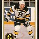 BOSTON BRUINS KEN HODGE 1991 OPC PREMIER ORIGINAL 6 # 154 O PEE CHEE