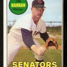 WASHINGTON SENATORS JIM HANNAN 1969 TOPPS # 106 NM