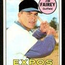 MONTREAL EXPOS JIM FAIREY 1969 TOPPS # 117 EM