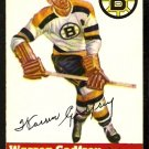 BOSTON BRUINS WARREN GODFREY 1954 TOPPS # 50 NR MT