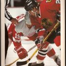 CHICAGO BLACKHAWKS JEREMY ROENICK DETROIT RED WINGS STEVE YZERMAN 1994 PINUP PHOTO