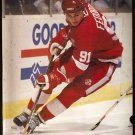 DETROIT RED WINGS SERGEI FEDOROV 1994 PINUP PHOTO