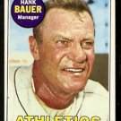 OAKLAND ATHLETICS HANK BAUER 1969 TOPPS # 124 VG/EX