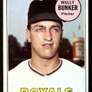 KANSAS CITY ROYALS WALLY BUNKER 1969 TOPPS # 137 EM/NM