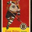 BOSTON BRUINS DOUG MOHNS 1957 TOPPS # 12 EX/EM