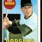 LOS ANGELES DODGERS ANDY KOSKO 1969 TOPPS # 139 VG