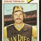 SAN DIEGO PADRES DAVE TOMLIN 1977 TOPPS # 241 EX