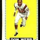 BOSTON PATRIOTS DON WEBB 1964 TOPPS # 20 EX OC AFL AMERICAN FOOTBALL LEAGUE