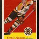 BOSTON BRUNS FERNIE FLAMAN 1957 TOPPS # 4 NR MT