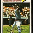 MINNESOTA TWINS PETE REDFERN 1977 TOPPS # 249 VG