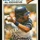 KANSAS CITY ROYALS AL COWANS 1977 TOPPS # 262 EX