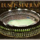 1987 POSTCARD NIGHT VIEW ST LOUIS CARDINALS BUSCH STADIUM