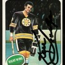 BOSTON BRUINS KEN HODGE AUTOGRAPHED 1975 TOPPS # 215