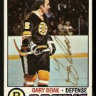 BOSTON BRUINS GARY DOAK AUTOGRAPHED 1977 TOPPS # 181