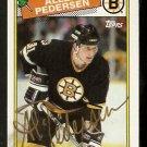 BOSTON BRUINS ALLEN PEDERSEN AUTOGRAPHED 1988 TOPPS # 103