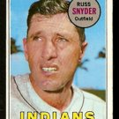 CLEVELAND INDIANS RUSS SNYDER 1969 TOPPS # 201 VG
