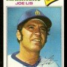 SEATTLE MARINERS JOE LIS 1977 TOPPS # 269 good