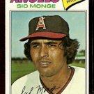 CALIFORNIA ANGELS SID MONGE 1977 TOPPS # 282 VG