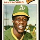 OAKLAND ATHLETICS MIKE NORRIS 1977 TOPPS # 284 VG