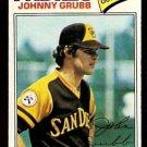 SAN DIEGO PADRES JOHNNY GRUBB 1977 TOPPS # 286 EX