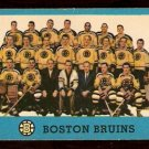 BOSTON BRUINS TEAM CARD WITH WILLIE O'REE 1962 TOPPS # 22 NR MT