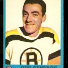BOSTON BRUINS GUY GENDRON 1962 TOPPS # 16