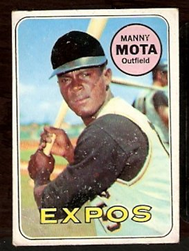 PITTSBURGH PIRATES MANNY MOTA 1969 TOPPS # 236 good