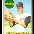 WASHINGTON SENATORS JOE COLEMAN 1969 TOPPS # 246 EX/EM