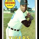 DETROIT TIGERS GATES BROWN 1969 TOPPS # 256 good