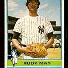 NEW YORK YANKEES RUDY MAY 1976 TOPPS # 481 EX