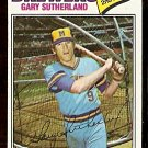 MILWAUKEE BREWERS GARY SUTHERLAND 1977 TOPPS # 307 VG