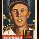 BOSTON RED SOX DICK BRODOWSKI 1953 TOPPS # 69 VG+
