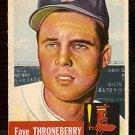 BOSTON RED SOX FAYE THRONEBERRY 1953 TOPPS # 49 VG+