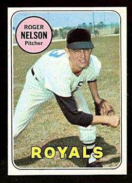 KANSAS CITY ROYALS ROGER NELSON 1969 TOPPS # 279 EM/NM