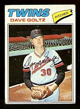 MINNESOTA TWINS DAVE GOLTZ 1977 TOPPS # 321 good