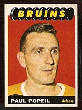 BOSTON BRUINS PAUL POPEIL ROOKIE CARD RC 1965 TOPPS # 40 EX+