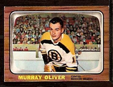 BOSTON BRUINS MURRAY OLIVER 1966 TOPPS # 95 EX