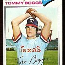 TEXAS RANGERS TOMMY BOGGS 1977 TOPPS 328 VG