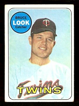 MINNESOTA TWINS BRUCE LOOK 1969 TOPPS # 317 VG