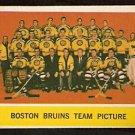 BOSTON BRUINS TEAM CARD 1963 TOPPS # 21 NR MT