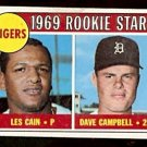 DETROIT TIGERS ROOKIE STARS LES CAIN DAVE CAMPBELL 1969 TOPPS # 324 VG