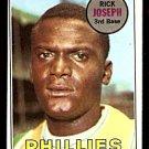 PHILADELPHIA PHILLIES RICK JOSEPH 1969 TOPPS # 329 EX+